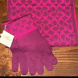 Coach Scarf and Gloves Set